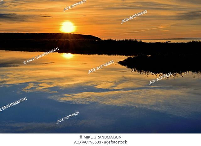 Sunrise on the Bay of Fundy St. Martins New Brunswick Canada