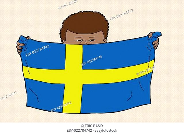 Swedish Child with Flag