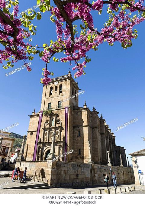 Village Torre de Moncorvo. The church Igreja de Nossa Senhora da Assuncao. The valley of river Douro. It is the wine growing area Alto Douro and listed as...
