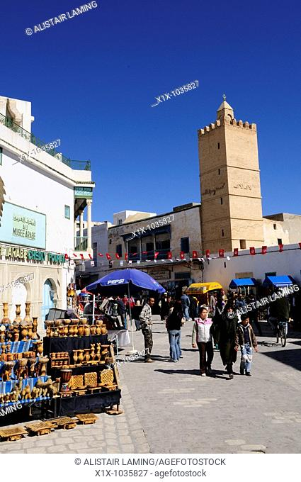 Street Scene in the Ancient Medina, Kairouan, Tunisia, North Africa