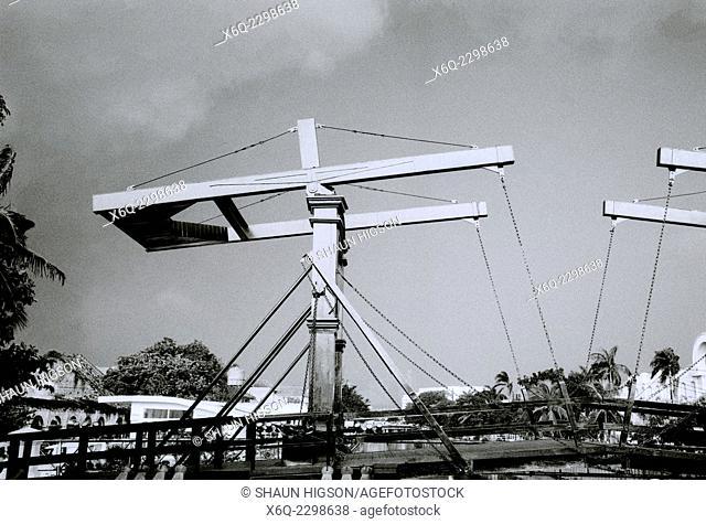 Kota Intan Bridge in Old Jakarta Kota in Jakarta in Java in Indonesia