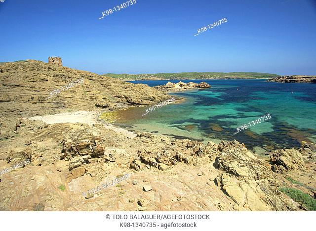 Cala Tamarells, Natural Parc s'Albufera des Grau Menorca Biosphere Reserve Balearic Islands Spain