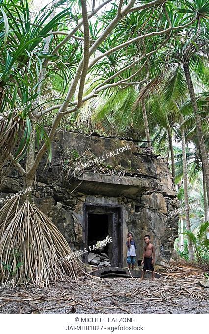 WWII Bunker, Emiej Imeji Island, Jaluit Atoll, Marshall Islands