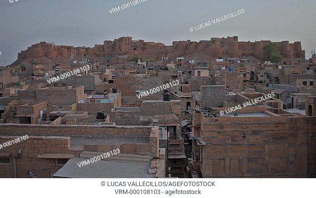 Fort and city rooftops, Jaisalmer, Rajasthan, India