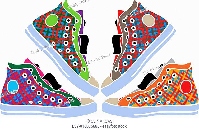 Abstract sport shoes