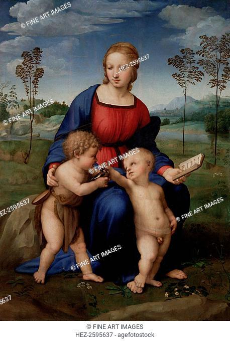 Madonna of the Goldfinch (Madonna del Cardellino), 1505-1506. Found in the collection of the Galleria degli Uffizi, Florence
