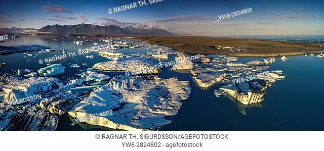 Icebergs at the Jokulsarlon Glacial Lagoon, Iceland