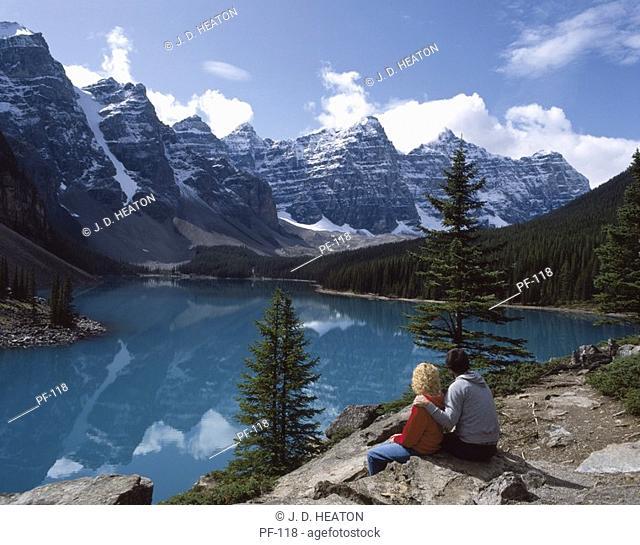 Canada. Banff National Park. Moraine lake