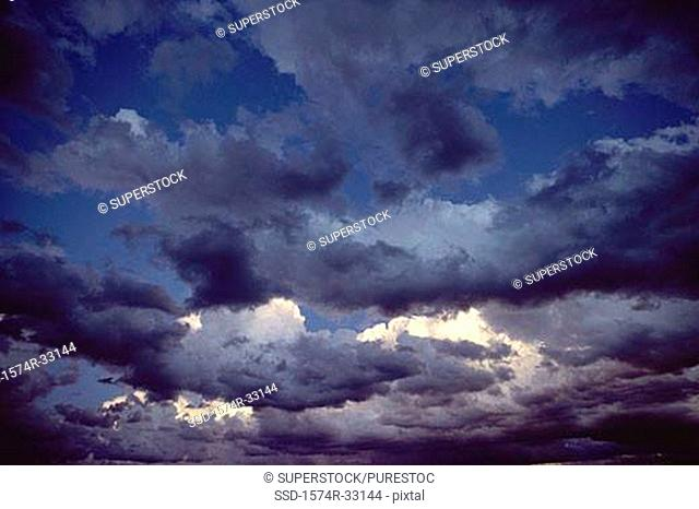 Low angle view of storm clouds in the sky