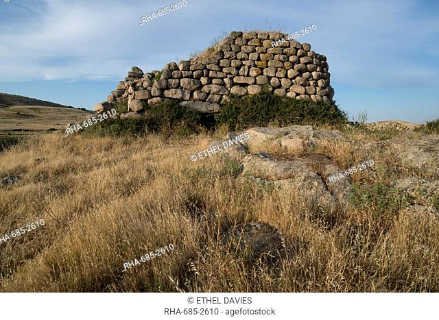 Nuraghe Izzana, one of the largest Nuraghic ruins in the province of Gallura, dating from 1600 BC, Sardinia, Italy, Europe