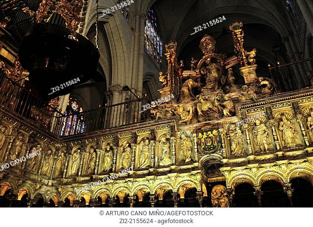 The Primate Cathedral of Saint Mary, Gothic, XIII-XV centuries, choir, Toledo, Spain