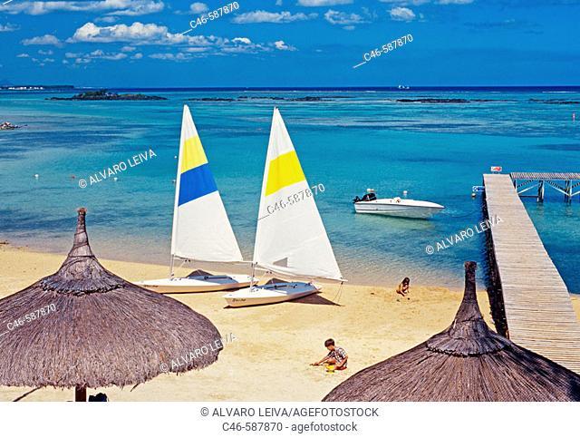 Trou Aux Biches Beach. Mauritius