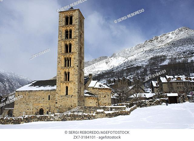 The twelth century Lombard Catalan Romanesque Church of Saint Climent (Clement) in Taull, Vall de Boi