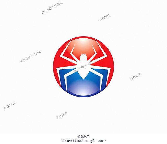 Spider logo template vector icon illustration design