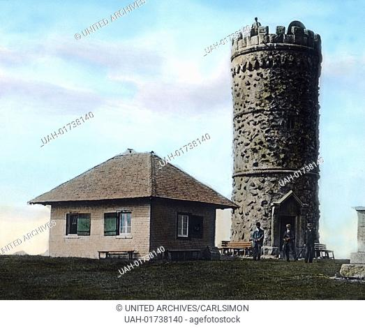 Germany, Baden region, Black Forest, image: the lookout tower of the Feldberg mountain. Image date: circa 1920. Carl Simon Archive