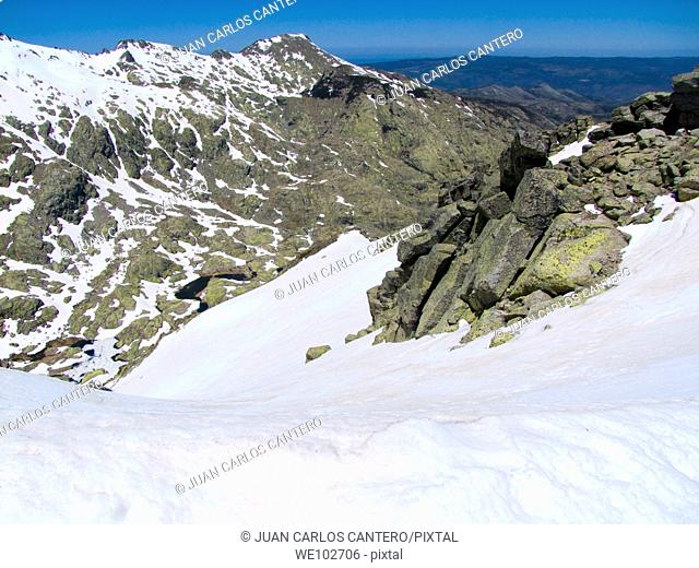 Summit of Mount Morezon 2, 384 mts. Sierra de Gredos. Avila. Castilla y León. Spain. Europe