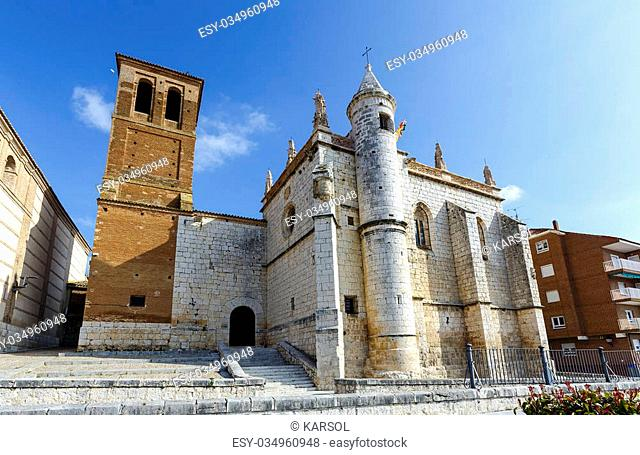 Mun Antolin church in Tordesillas (Spain), located in the province of Valladolid, where Reyes Catholics signed the Treaty of Tordesillas with the Portuguese...