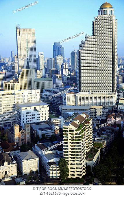 Bangkok skyline, general aerial view, Thailand
