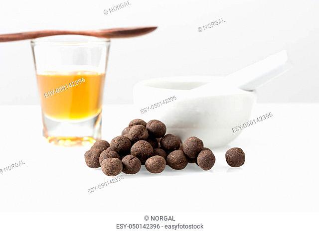 Thai herbal medicine, medicine ball, medical concept