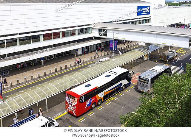 Main entrance to Glasgow International Airport, Glasgow, Scotland