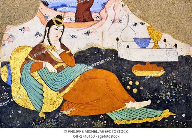 Iran, Isfahan, Chehel Sotun palace, The Great hall or Throne hall painting