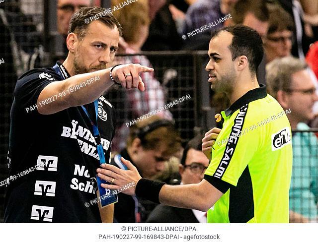 27 February 2019, Schleswig-Holstein, Flensburg: Handball: Champions League, SG Flensburg-Handewitt - HBC Nantes, Group stage, Group B, 14th matchday