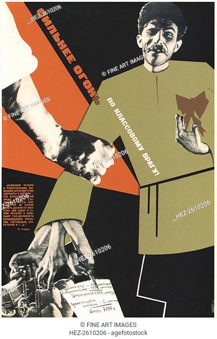 More fire at the class enemy!, 1933. Artist: Klinch (Petrushansky), Boris Grigoryevich (1892-1946)