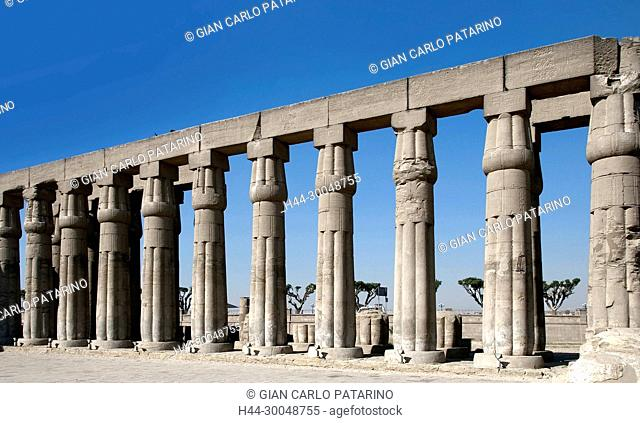 Luxor, Egypt. Temple of Luxor (Ipet resyt): colonnade in the courtyard