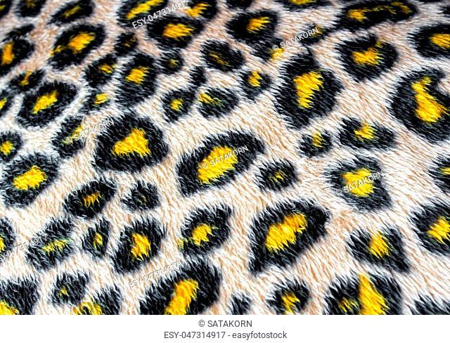 Leopard skin pattern leatherette fabric