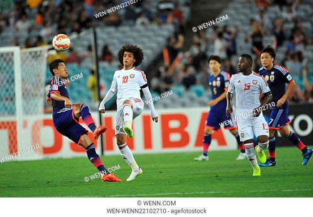The United Arab Emirites has beaten Japan in the quarter finals of the Asian Football Championship Featuring: Shinji Kagawa, Omar Abdulrahman Where: Sydney