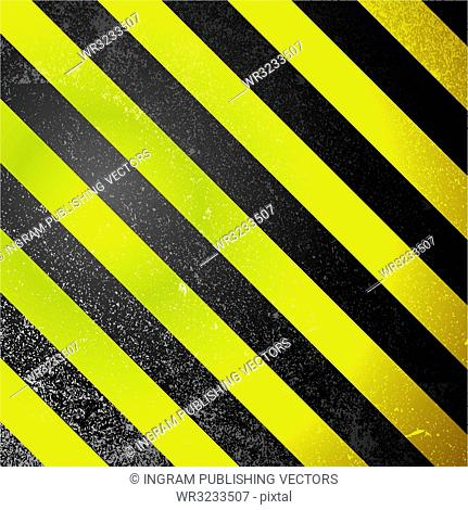 Square abstract warning design with yellow and black design