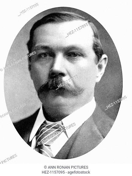Arthur Conan Doyle, Scottish writer, c1900. Conan Doyle (1859-1930) was the creator of Sherlock Holmes and of Brigadier Gerard