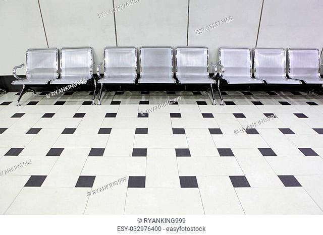 empty seats at a building railway station, shot in Taipei, Taiwan, asia