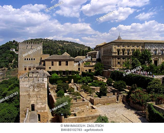 view at the Alcazaba, Alhambra, Spain, Andalusia, Granada