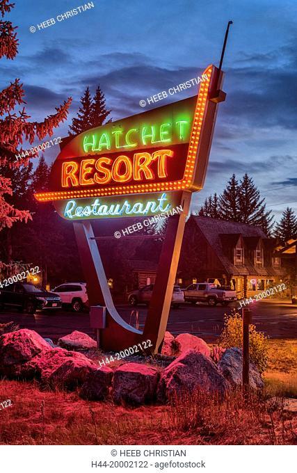 Wyoming, Rocky Mountains, Teton County, Grand Teton National Park, Hatchet Resort