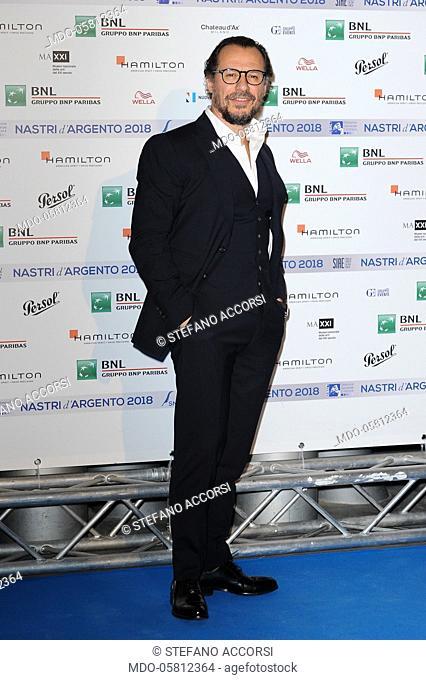 Italian actor Stefano Accorsi durante il photocall della presentazione delle candidature dei Nastri d'Argento 2018, MAXXI - Museo Nazionale delle arti del XXI...