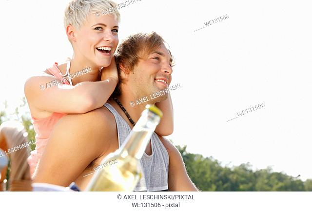 couple enjoying summer