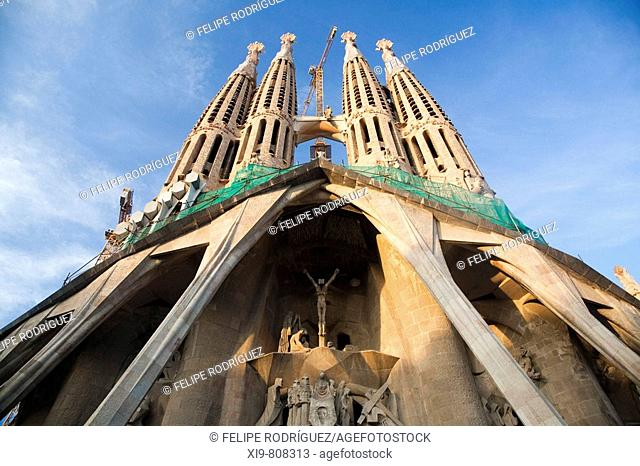 Sagrada Familia temple by Gaudi, Barcelona. Catalonia, Spain