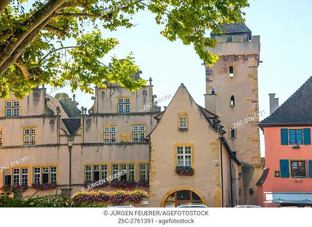 Rouffach, picturesque village, Alsace, scenic route of Vine Alsatian, France