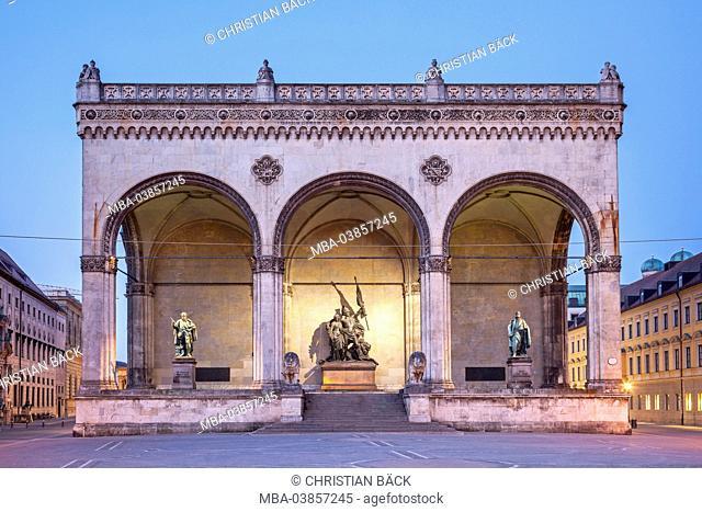 Field Marshals' Hall on the Odeonsplatz (square), Munich, Old Town, Upper Bavaria, Bavaria, Germany