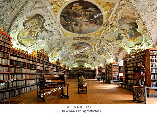 The Theological Hall in Strahov Monastery in Prague, constructed in 1720s
