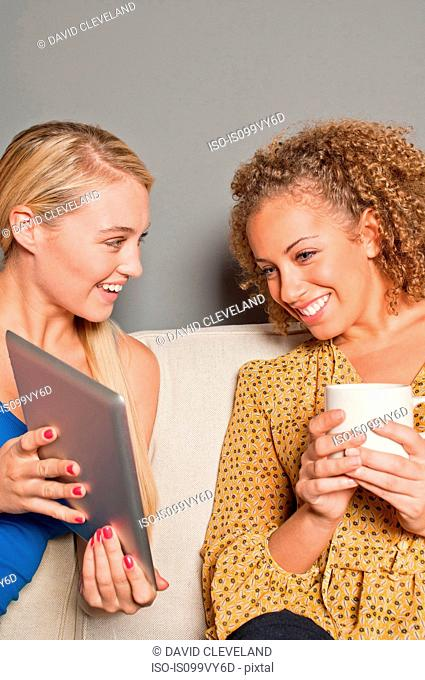 Women with digital tablet