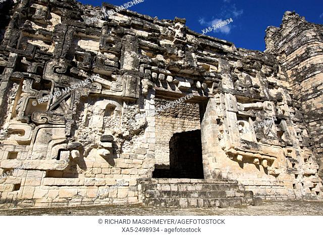 Monster Mouth Doorway, Hormiguero Mayan Archaeological Site, Rio Bec Style, Campeche, Mexico