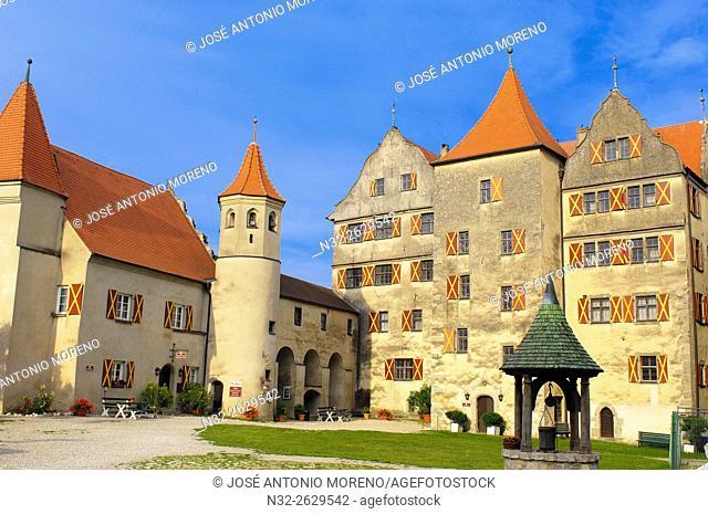 Harburg, Swabia, Harburg castle, Woernitz river, Romantic Road, Romantische Strasse, Bavaria, Germany, Europe