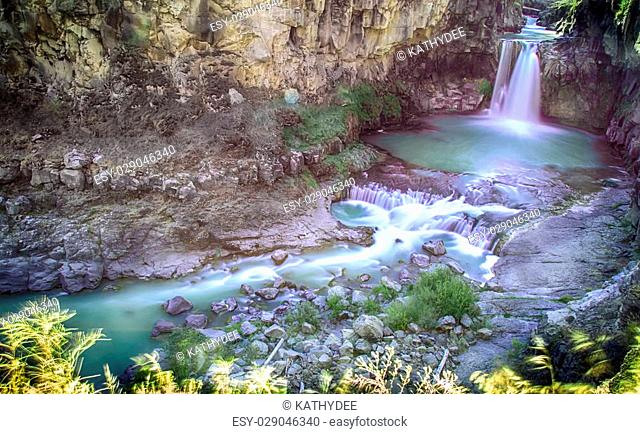 White River water falls in northern Oregon east of The Dalles