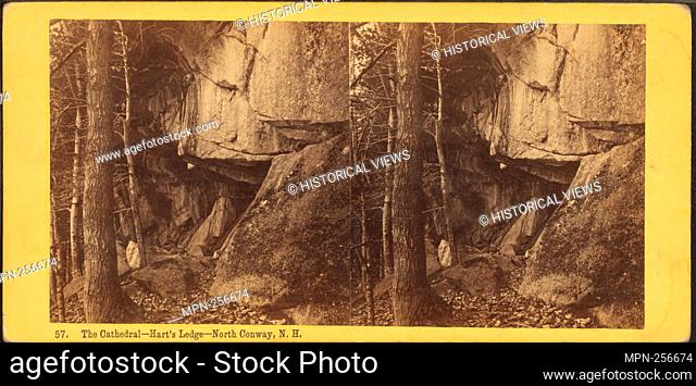 Cathedral, Hart's Ledge, North Conway, N.H. Additional title: Stereographic views of White Mountain scenery . Bierstadt Brothers (Photographer)