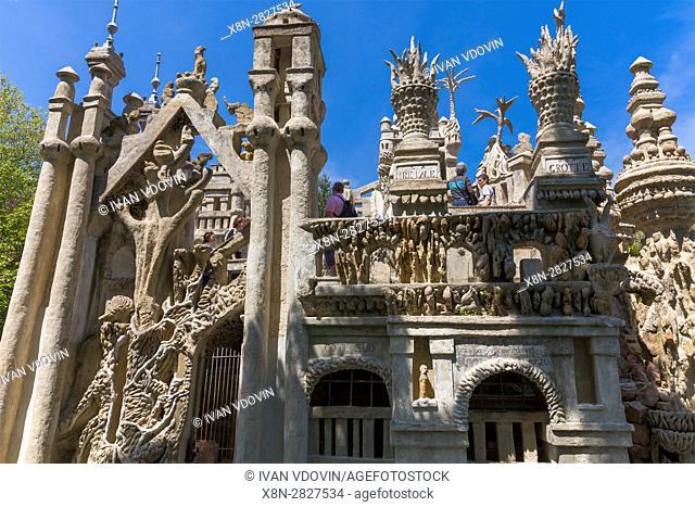Le Palais ideal, Ideal Palace by Ferdinand Cheval, Hauterives, Drome department, France