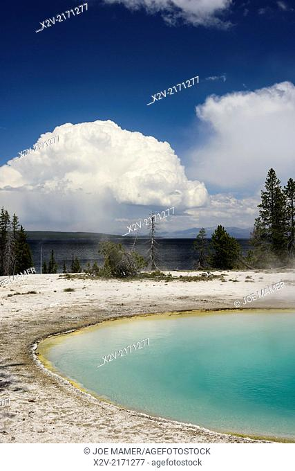 Blue Funnel Spring is a hot spring located in the Lower Group of the West Thumb Basin on the shore of Yellowstone Lake