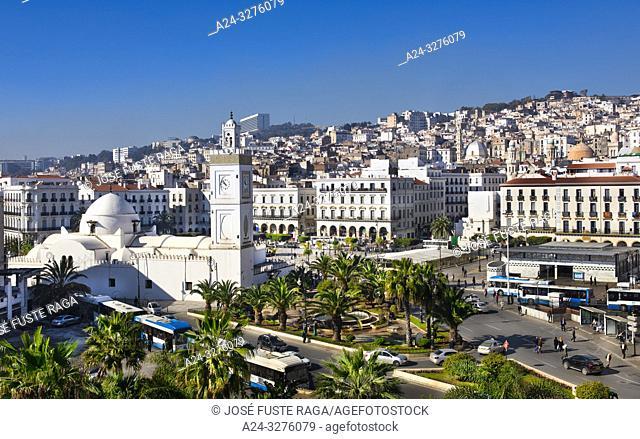 Argelia, Argel City,, Martyrs Square, Djemaa El-Djedid Mosque, UNESCO
