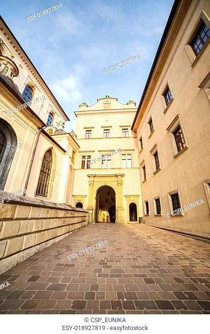 Famous, royal Cracow castle in Poland